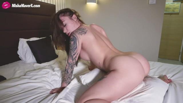 Tatto Girl Riding Pussy her Pillow - Misha Maver