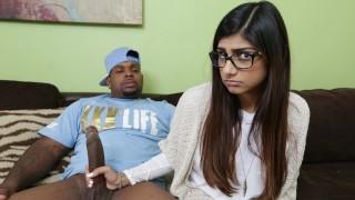 MIA KHALIFA - She's Never Tried Big Black Dick Before, So She Asks Rico