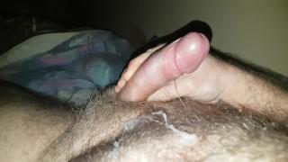Hairy bear cumshot mess