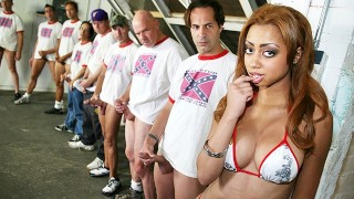 Angel Cummings Gets On Her BF With A Bunch Of White Dudes