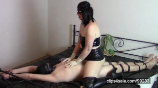 Leather Mistress with surgical gloves (SAMPLE)