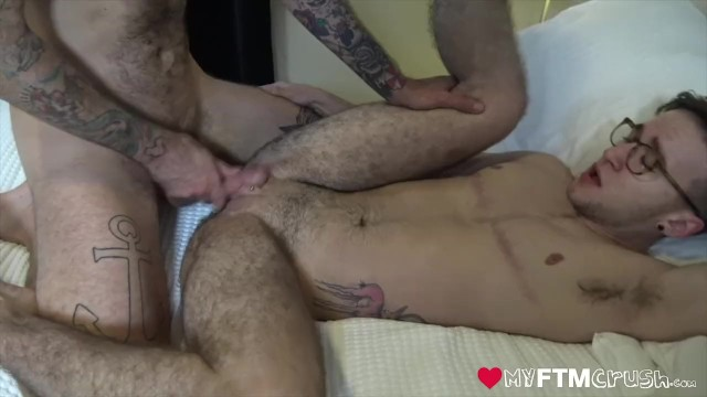 Hairy threesome men rough bareback breeding pornhub Transgender Ftm With Tattoo Has Man Pussy Eaten For Bareback Breeding Pornhub Com