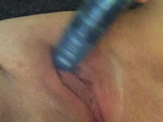 Making my tight pussy wet with a vibrator