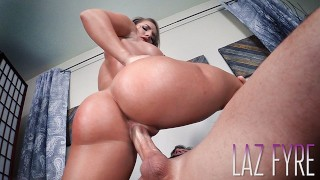 FIT CHICK into Sex *FULL VIDEO* CALI CARTER & LAZ FYRE