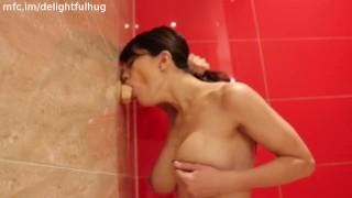 hard suck and fuck in bathroom