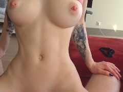 Nympho stepsister cum twice on stepbrot...