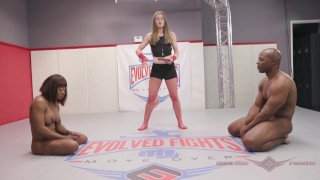 Muscular Kelli Provocateur Loses to Black Stud at Evolved Fights