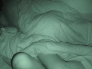 Hidden cam, getting orgasm while boyfriend are slipping