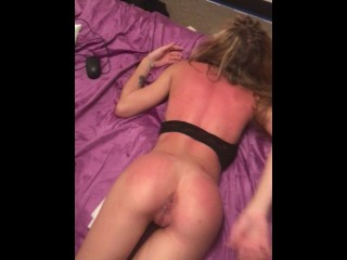 My boyfriend woke up me and filled me , my tight pussy is full of cum !!!!