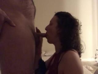Hotwife sucking cock