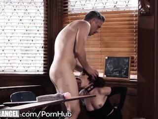 BurningAngel Goth Masturbating In Detention is Anally