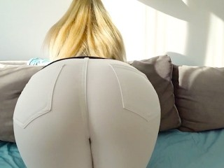 with big ass gets fucked through jeans and thongs