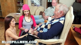Screen Capture of Video Titled: BLUE PILL MEN - Old Men Living Their Best Life With Gigi Flamez and Sally