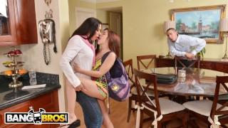 Screen Capture of Video Titled: BANGBROS - Flunking Step Daughter Gets A Golden Rachel Starr