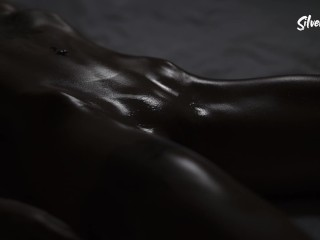 Pulsating pussy, young fitness model, closeup