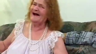 Toothless Granny Sucks Cock And Gets Fucked