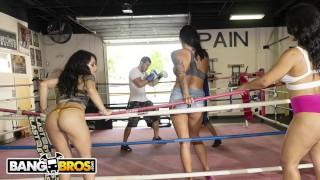 BANGBROS - Rose Monroe, Holly Hendrix and Mia Martinez On The Fuck Team 5