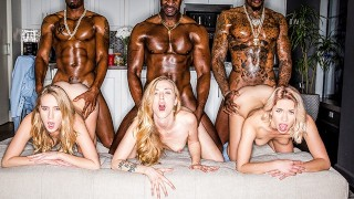 Blacks Blonde Creampie Gangbang