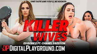 Screen Capture of Video Titled: Digitalplayground - Lesbian milfs Chanel Preston & Kaylani Lei lick pussy