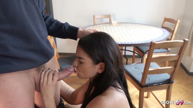 GERMAN SCOUT - BIG HANGING TITS TEEN CHLOE TALK TO FUCK AT STREET CASTING
