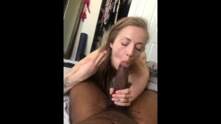 Milf Jerks me off until she sucks the Cum Out - IG/Twitter SevyanHarden
