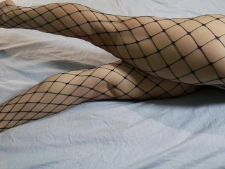 Intence Crossed Legs Orgasm in Fishnets ~DirtyFamily~