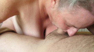 BIG TITS - HAIRY PUSSY - MATURE LADY - SILVER HAIR PASTY WHITE SKIN