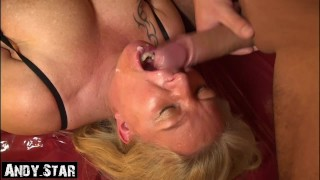 Horny Milf Fucked and cumshot into her mouth Germanmilf