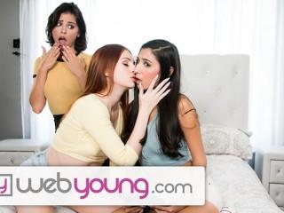 WebYoung 18yo Redhead Seduces her 2 High School BFFs!