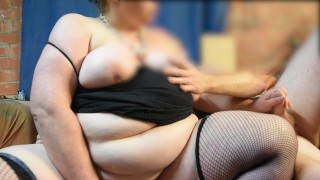 BBW StepMom Busts StepSon Watching Porn and Seduces Him