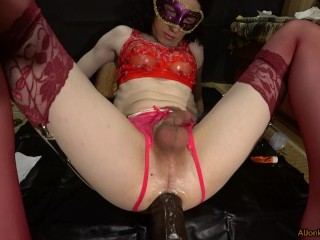Cumming from Huge dildos and showing a gape, compilation