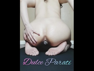 Oiled anal exercise with diamond plug! (Preview)Join FANCLUB for full video