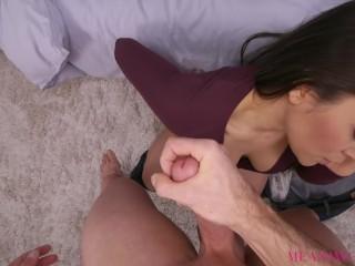 Cheating Brunette Sucks and Fucks Stranger POV- Meana Wolf – Bad Girlfriend