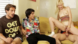 Screen Capture of Video Titled: That 70s Ho - Slutty Laurie Cummed And Creamed By Brother's Friends S2:E2
