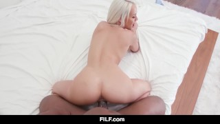 FILF - Petite Elsa Jean's Car Problems Turn Into Hook Up With BBC