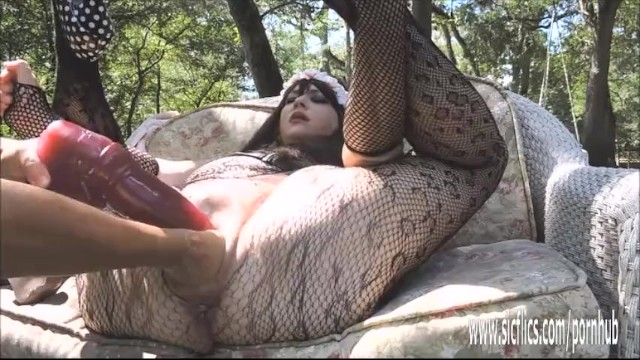 Double fist and dildo fucking her giant hole