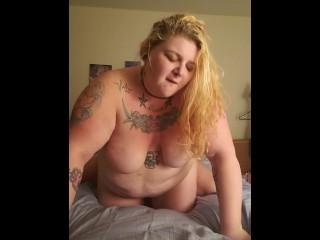 Slutty BBW wife rough fucked from behind