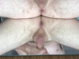 extreme anal sex on mirror with my big dildo! watch the full version!!