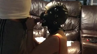 Cheating mask wife dirty cuckold talk gets fuck while talking dirty to her man