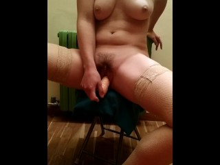 Testing new toy after job on my tight pussy