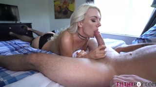 Screen Capture of Video Titled: Cuck Husband Watches Hot Blonde Wife Fuck Stud! FilthyPOV