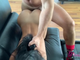 Fitness Model needs cock & begs her neighbour to come over