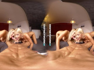 Let horny VR cum lovers Karol Lilien & Nikky Dream swallow your dick in POV