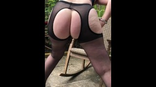Showing off for the builders next door-short clip
