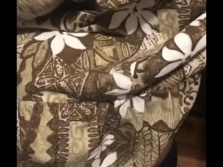 Ebony BONDAGE tied tits before shopping trip
