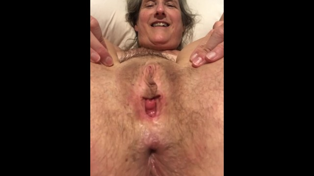 Spread granny pussy Spreading :