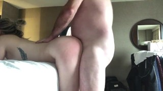 girl gets fucked hard behind by DILF