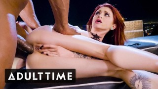 ADULT TIME Tiny Lola Fae Squirts on Dick & Takes it Anally!