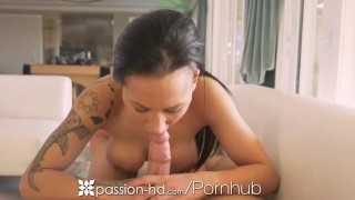 PASSION-HD Big Dick Security Guard SPIES on Busty Client