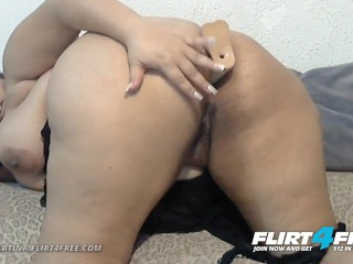 Sarah Latina on Flirt4Free - BBW Latina Plays with Her Big Beautiful Ass